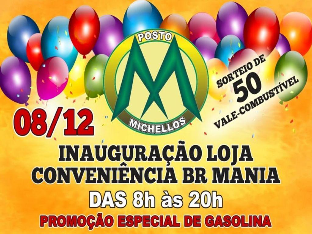 Posto Michellos inaugura nova conveniência com promoção neste sábado, 08