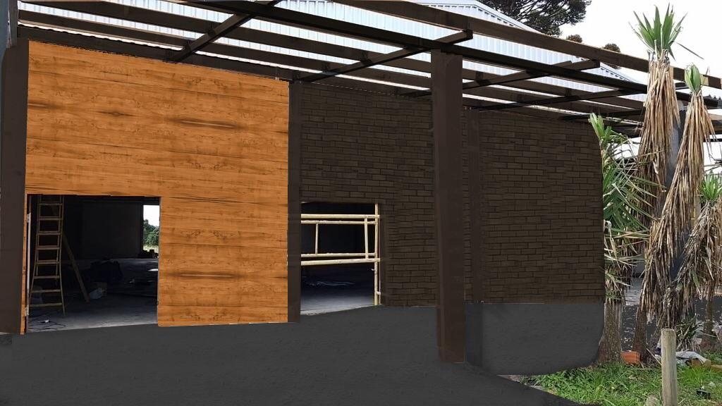 Imagem do projeto mostrando como ficará a casa após a reforma