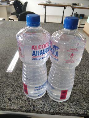 IFC Campus Luzerna produz álcool em gel 70%