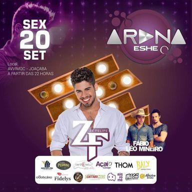 Cantor Zé Felipe fará show de estreia da Arena Eshe nesta sexta-feira, 20, em Joaçaba