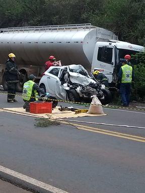 Jovem morre em acidente na SC 135
