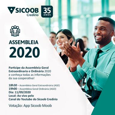 Sicoob Credirio/SC promove Assembleia Geral Ordinária Online
