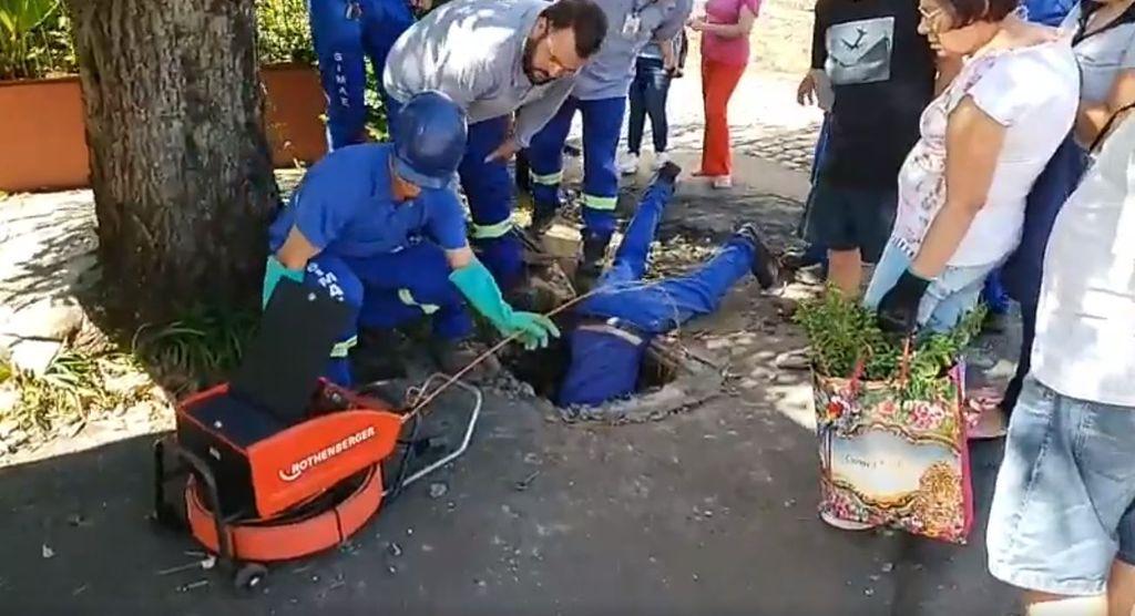 Equipe do Simae se esforçou no resgate