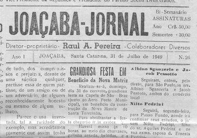 Memória da imprensa de Joaçaba