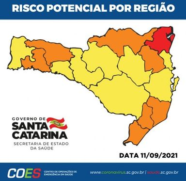Confira o mapa do coronavírus em Santa Catarina