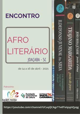 Encontro Afro-literário acontece nos dias 14, 15 e 16 de Abril