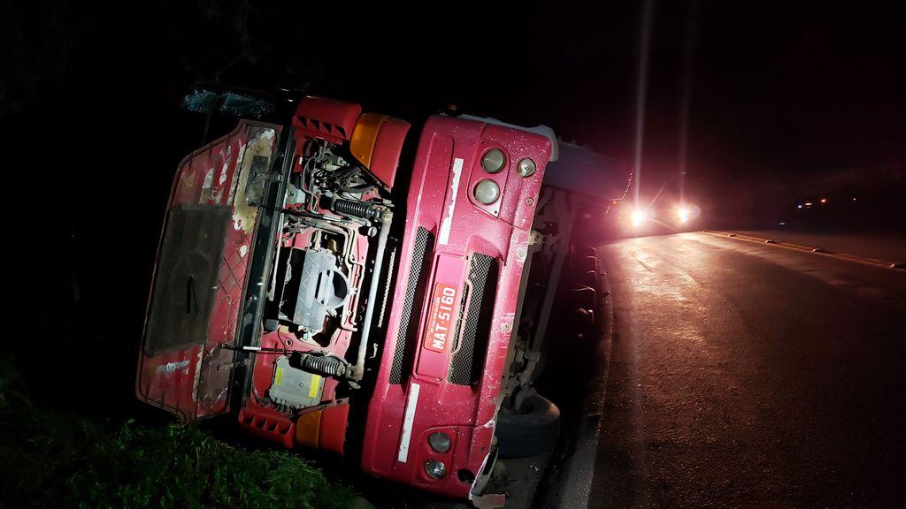 Acidente na BR 282 em Joaçaba deixa motorista ferido