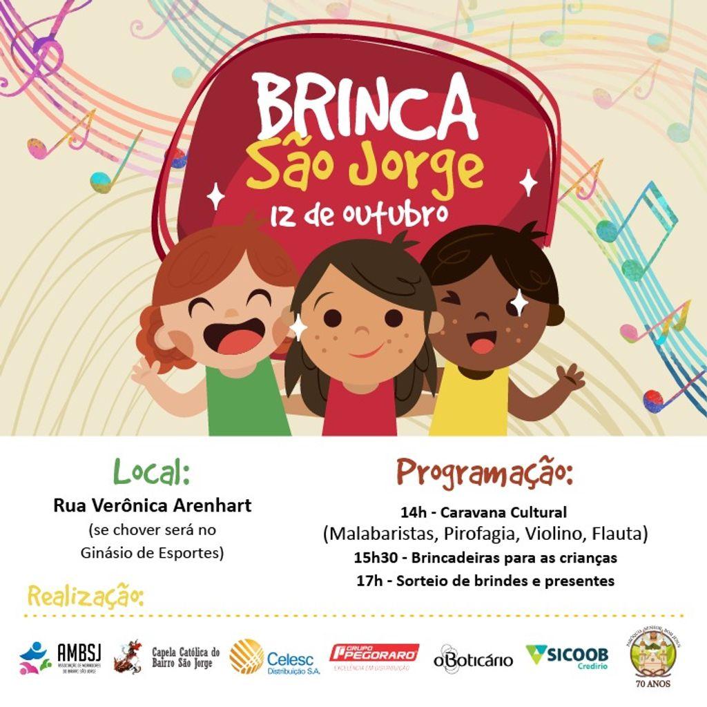 Bairro São Jorge terá programação especial para o Dia da Criança