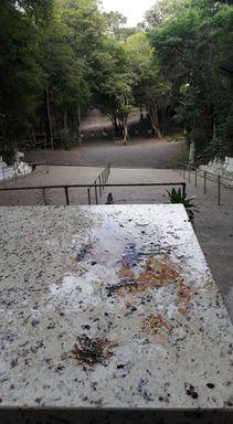 Gruta de Erval Velho é alvo de vandalismo