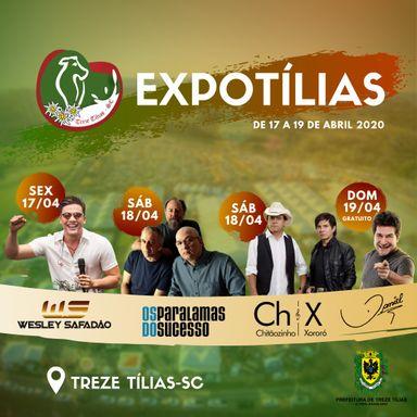 Divulgados os shows da Expotílias 2020