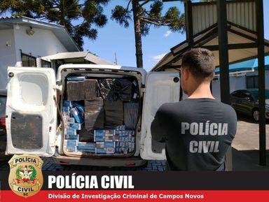 Polícia Civil efetua prisão em flagrante do contrabandista de cigarro de Campos Novos