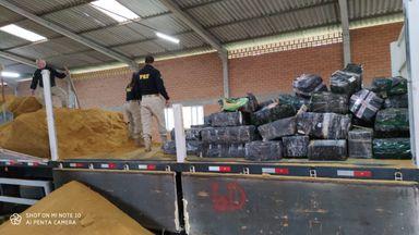 PRF apreende mais de três toneladas de maconha na BR 282 em Erval Velho