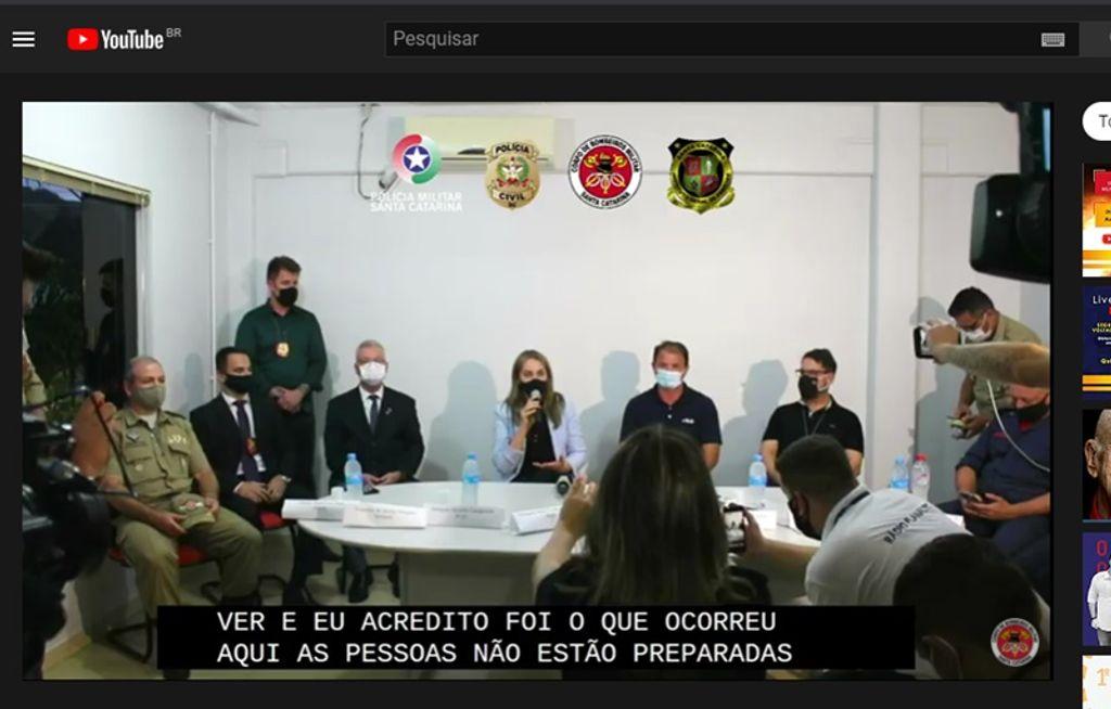Coletiva de imprensa traz detalhes sobre o crime ocorrido em Saudades