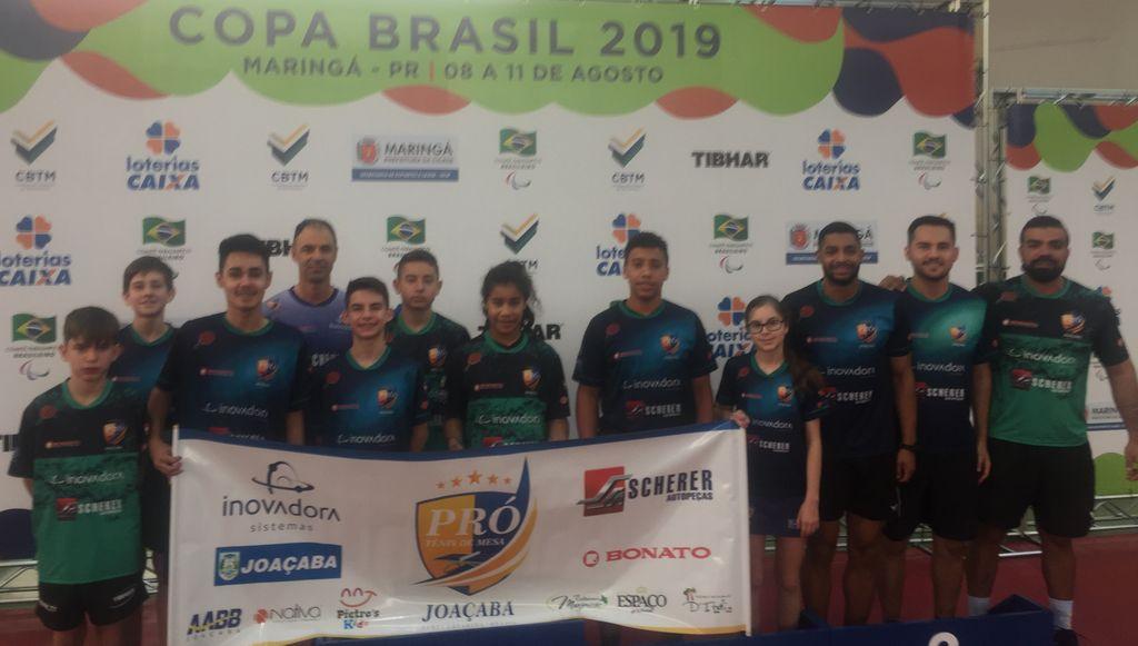 Mesatenistas de Joaçaba conquistam 11 medalhas nacionais em Maringá