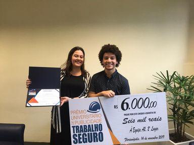 Acadêmicos do Curso de Publicidade e Propaganda conquistam 2º Lugar em prêmio concurso do TRT/SC