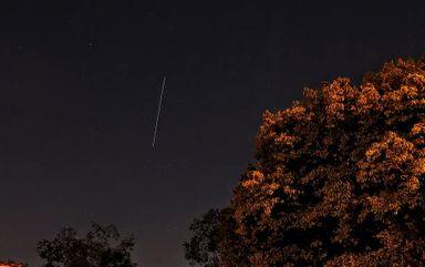 Fotógrafo registra passagem de Estação Espacial Internacional (ISS) por Joaçaba
