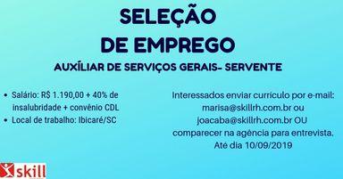 Auxíliar de serviços gerais- Servente