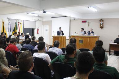 Lançamento da campanha ocorreu na Câmara de Vereadores de Herval d' Oeste, nesta segunda-feira (1º).