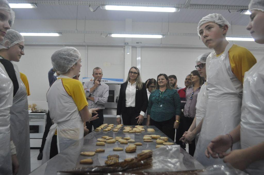 Vice-governadora durante a visita
