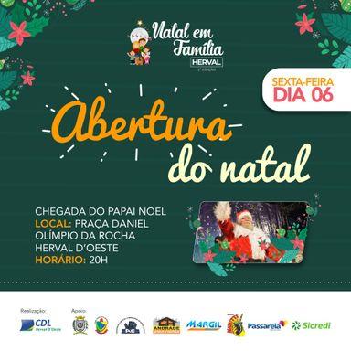 Abertura do II Natal em Família Herval acontece nesta sexta-feira, dia 6, às 20 horas