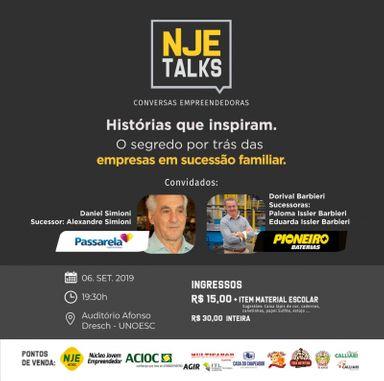 Sucessão Familiar será tema do NJE Talks 2019 que acontece nesta sexta-feira (06)