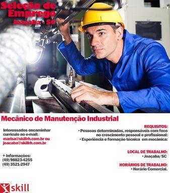 Mecânico de Manutenção Industrial