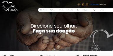Novo site da Casa de Acolhida Coração de Rua