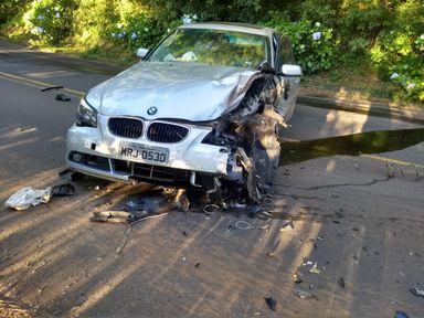 Acidente deixa feridos na SC-150 em Luzerna