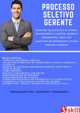 PROCESSO SELETIVO PARA GERENTE