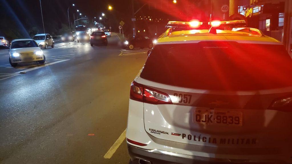 PM registra acidentes de trânsito em Joaçaba
