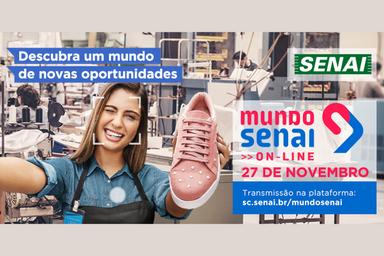SENAI apresenta um mundo de oportunidades em evento on-line e gratuito