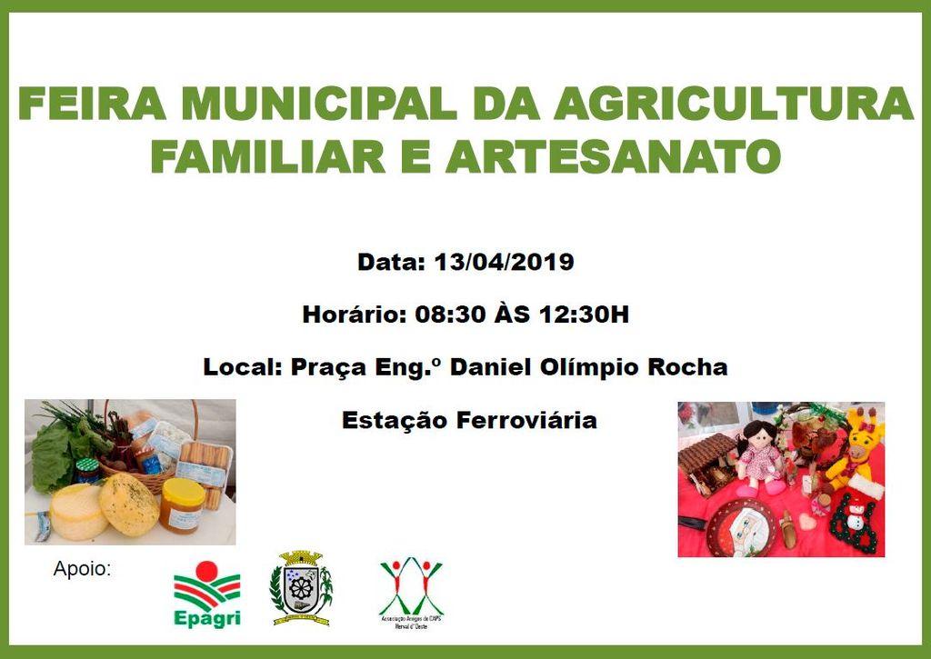 Feira Municipal da Agricultura Familiar e Artesanato acontece neste sábado, 13, em Herval d' Oeste