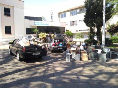 CDL recolhe mais de 3 toneladas de lixo eletrônico em Joaçaba