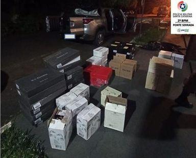 Grande apreensão de vinhos importados é realizada em Ponte Serrada