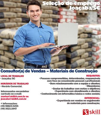 Consultor de Vendas-Materiais de Construção