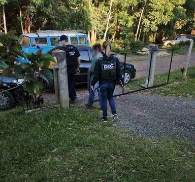 Suspeito foi encaminhado ao Presídio de Concórdia (Foto: Reprodução/Atual FM)