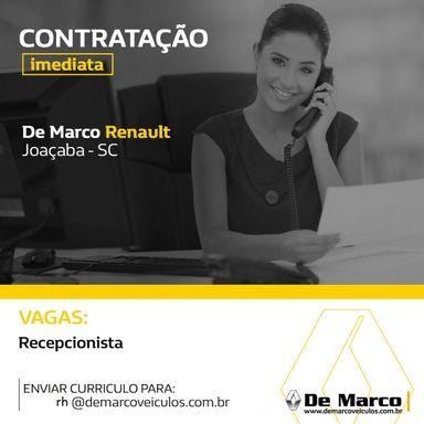 Recepcionista - DE MARCO RENAULT JOAÇABA