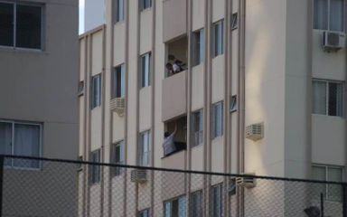 Polícia monitora advogado à distância (Foto: Luiz Carlos Souza)