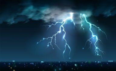 Em 12 horas, 1.900 raios foram registrados em cidades do Oeste de SC