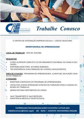 ORIENTADOR DE APRENDIZAGEM - CIEE