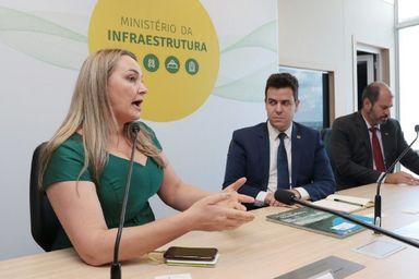 Daniela Reinehr expõe situação de rodovias do Oeste ao Ministério da Infraestrutura