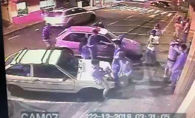 Assista! Disparos de arma de fogo e confusão são registrados no centro de Joaçaba