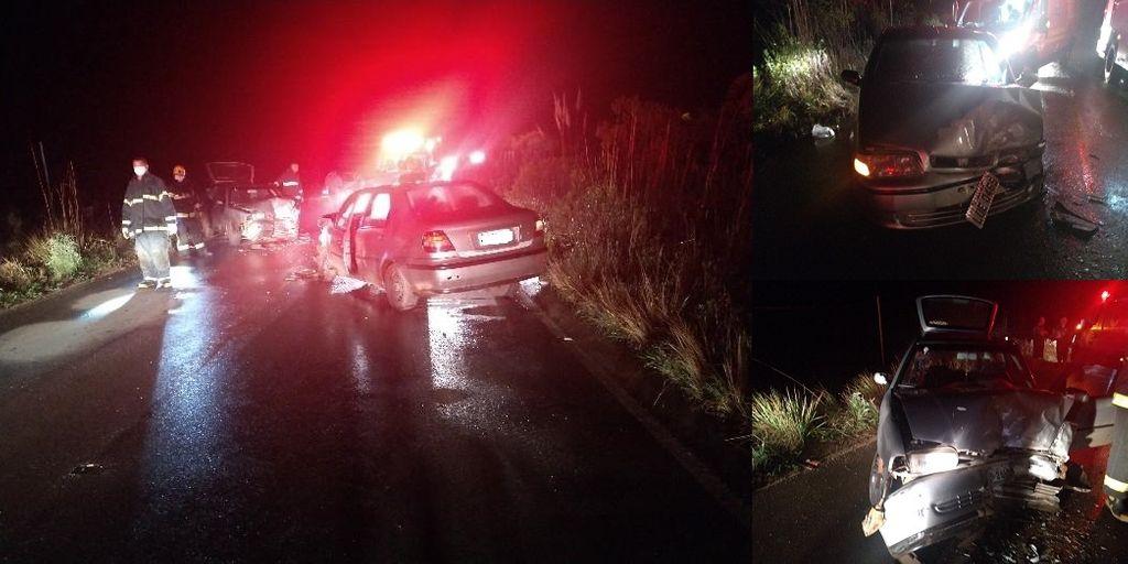 Três pessoas ficam feridas com gravidade após acidente na SC 282, Distrito de Ibicuí