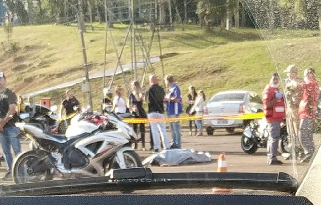 Homem morre em encontro de motociclistas em Caçador