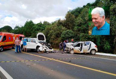 Acidente envolveu dois veículos.