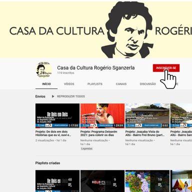 Conheça o canal do Youtube da Casa da Cultura Rogério Sganzerla