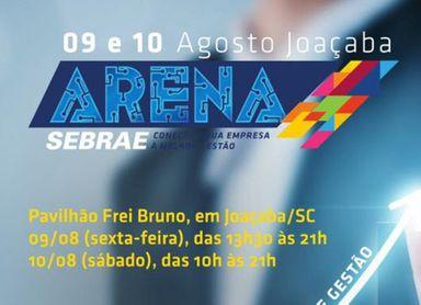 Arena Sebrae inicia nesta sexta-feira em Joaçaba