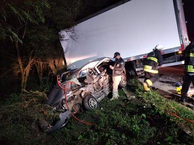 Motorista fica gravemente ferido em acidente na BR 153