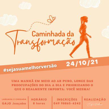 Caminhada da Transformação será realizada no dia 24 de outubro em Joaçaba