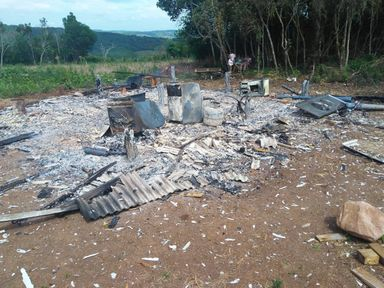 Incêndio em residência é registrado em Campos Novos
